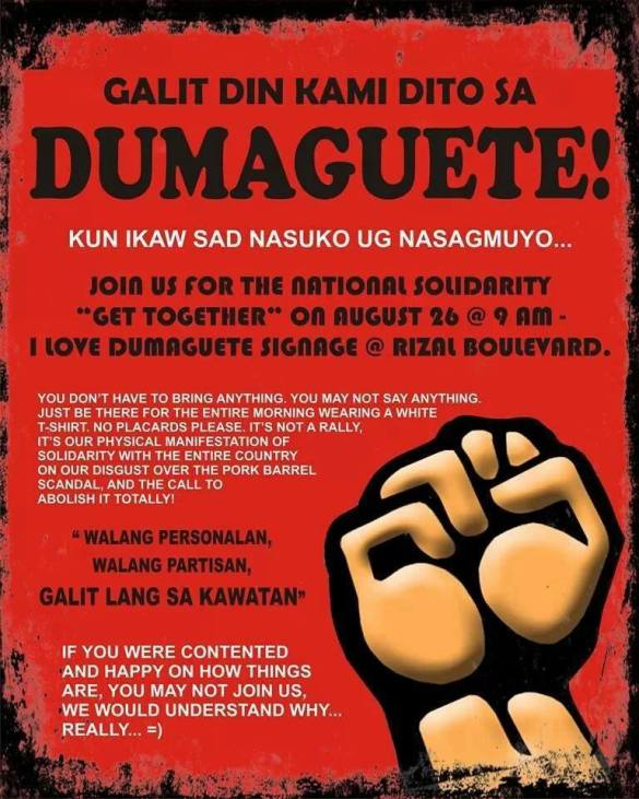 August 26, 2013 DUMAGUETE Anti-PORK BARREL Protest Action