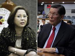Juan Ponce Enrile and GF (girl friday) could be spending Christmas together (in JAIL).