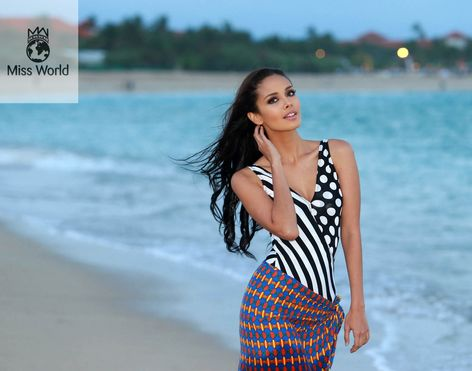 Miss Philippines Megan Young is 2013 Miss World. Photo is from swimsuit pictorial. https://balitangbalita.com/