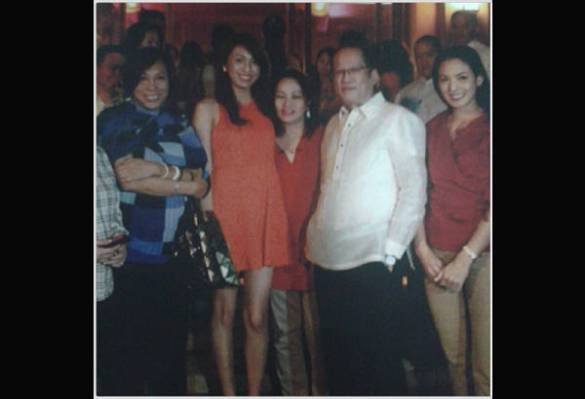 Napoles family members with P-Noy photo series