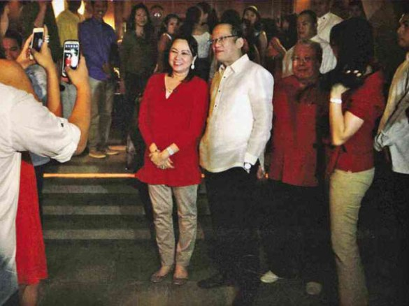 Palace released this photo to the public. Janet Lim Napoles with P-Noy.