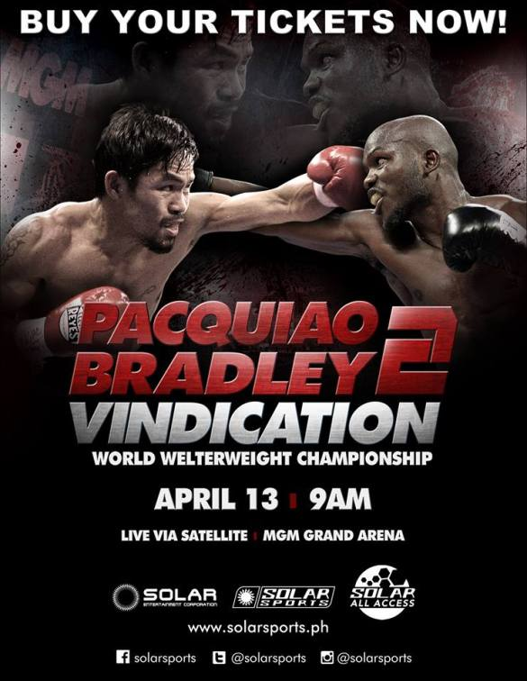 Pacquiao Bradley 2 - this Sunday Philippine time https://www.facebook.com/groups/344821348978048/
