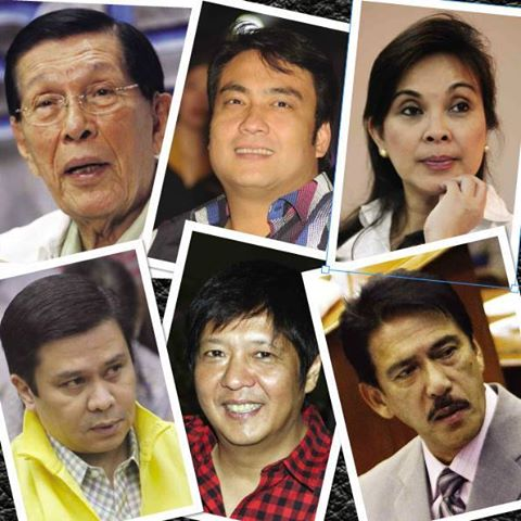 No need to speculate on 8 Napoles Senators - JPE (charged), Bong (charged), Jinggoy (charged), Bong Bong Marcos, Loren Legarda, Tito Sotto, Gringo Honasan (soon to be charged?) and ex-senator Loi Estrada.