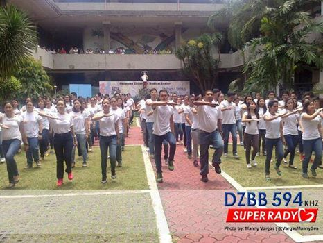 #‎SavePCMC‬ and Akap Bata lead some 300 doctors, nurses and staff of the Philippine Children's Medical Center in a flash mob dance protest against the implementation of the DOH plan to evict the hospital and transfer to the Lung Center compound.  #SavePCMC