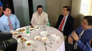 Viral celebrity pic. JAILBIRDS: 3 actor-senators (incumbents Jinggoy and Bong with former senator, VP and president Erap)  with JPE.  http://wp.me/p3QDQJ-aV