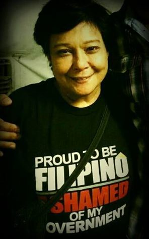 Nora Aunor T-Shirt says it all: Proud to be Filipino, Ashamed of my Government. http://wp.me/p3QDQJ-GS  http://wp.me/p3QDQJ-G4
