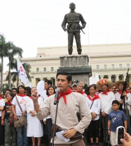 bonifacio monument and actor