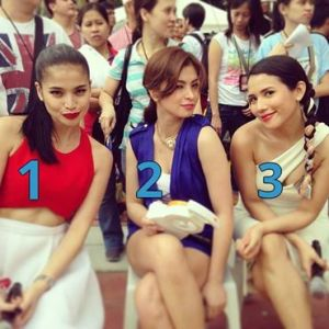 Philippine celebrities - anne, angel iza