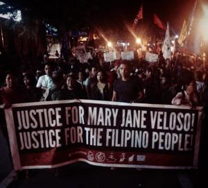 Militant groups have been on a vigil for days at the Indonesian Embassy in the Philippines. The execution of OFW Mary Jane Veloso was temporarily delayed while those of 8 others pushed through.