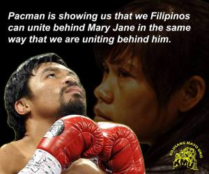Before Manny Pacquiao's fight of the century against undefeated Floyd Mayweather, Manny took time out to plead for the life of Mary Jane Veloso, sentenced to die in Indonesia for drug related charges. tweet #SaveMaryJaneVeloso
