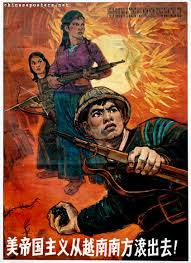 Flashback of circa 1970s poster of the heroic struggle of the Vietnamese people against United States imperialism. Today, Vietnam exports PORNOGRAPHY.