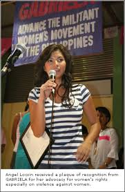 Angel Locsin with Gabriela to fight VIOLENCE AGAINST WOMEN