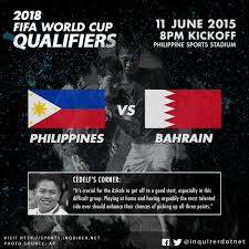 FIFA 2018 World Cup Qualifiers, Philippines versus Bahrain