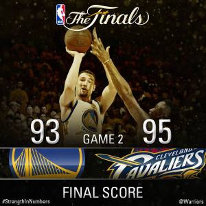NBA 2015 Finals, Game 2