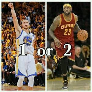 2015 NBA Finals - Curry (Golden State) versus James (Cleveland)