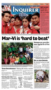 Major Philippine newspaper PDI featured AlDub in its Sunday front page.