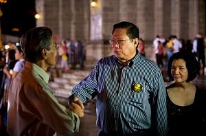 Butz Aquino with former Congressman Satur Ocampo.